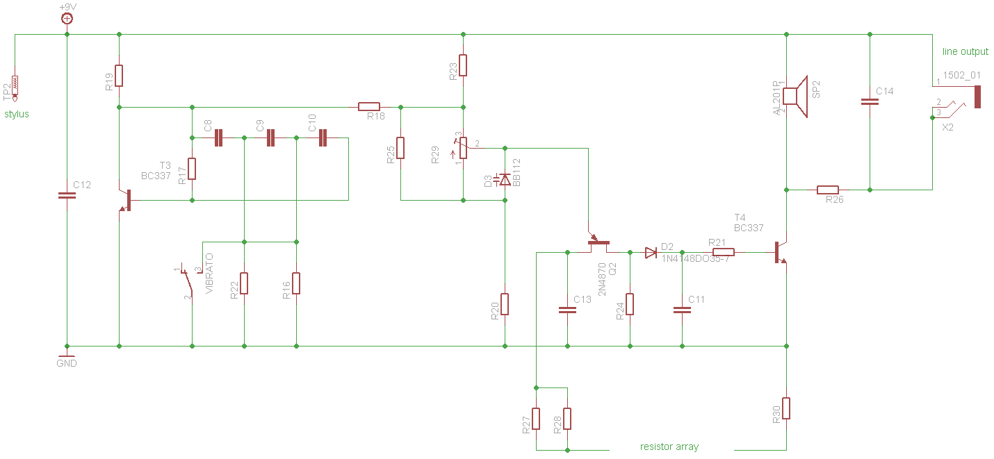 Stylosynth 70 Analog Stylophone Inspired Synth Syntherjack Ujt Relaxation Oscillator V1 Schematics