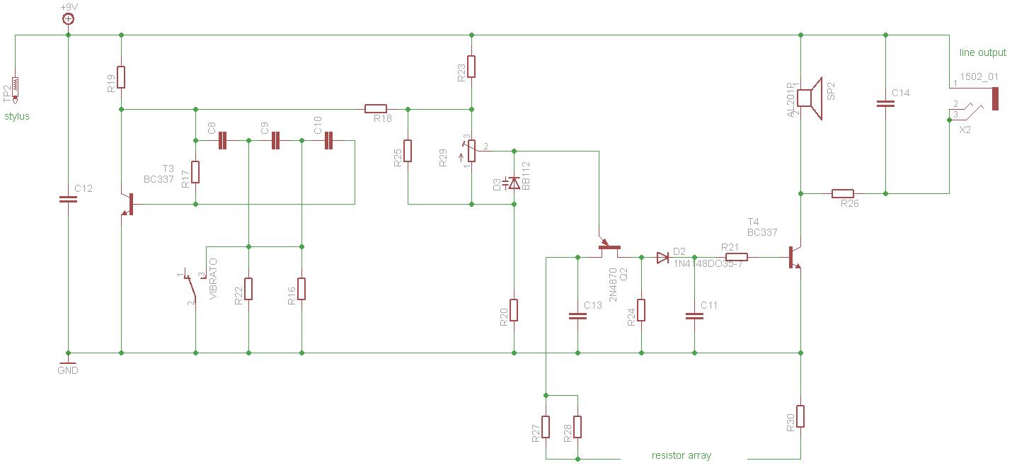 Stylophone V1 schematics