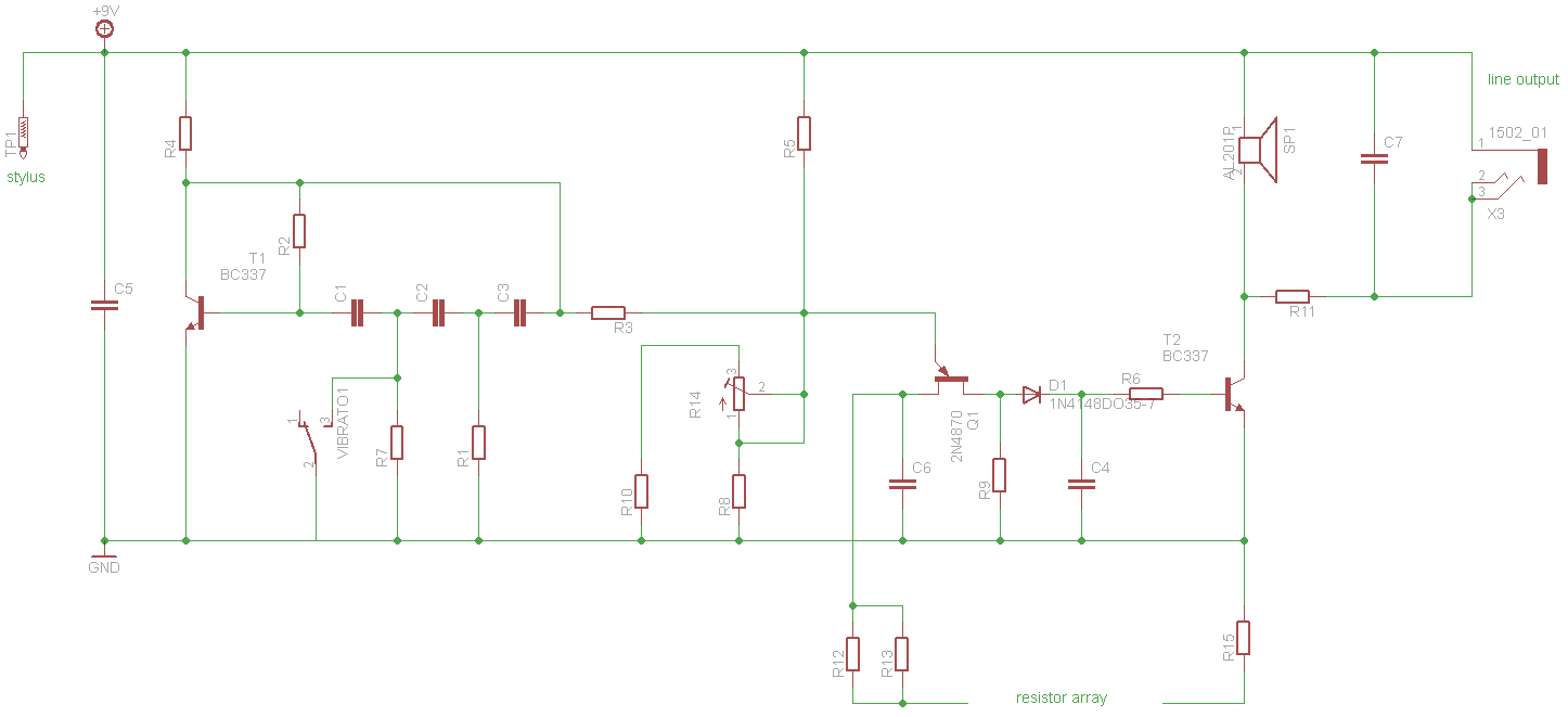Stylophone V2 schematics