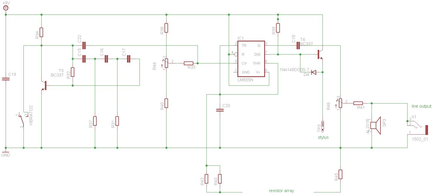 Stylophone V3 schematics