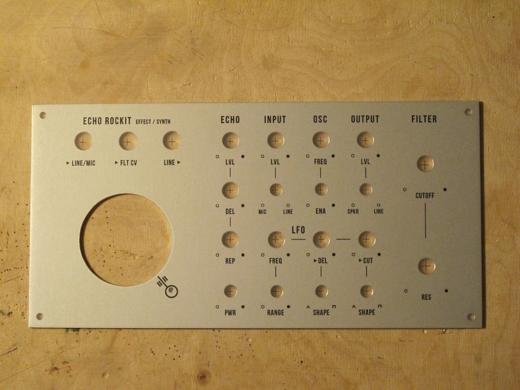 Mfos Echo Rockit Syntherjack Effect With Ic Pt2399 Schematic Front Panel