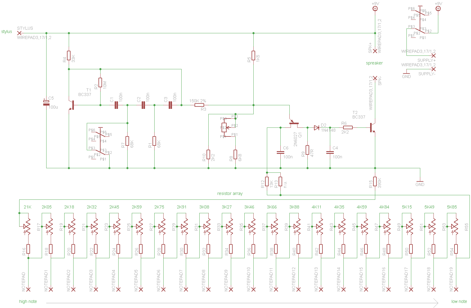 Stylophone70 full schematics