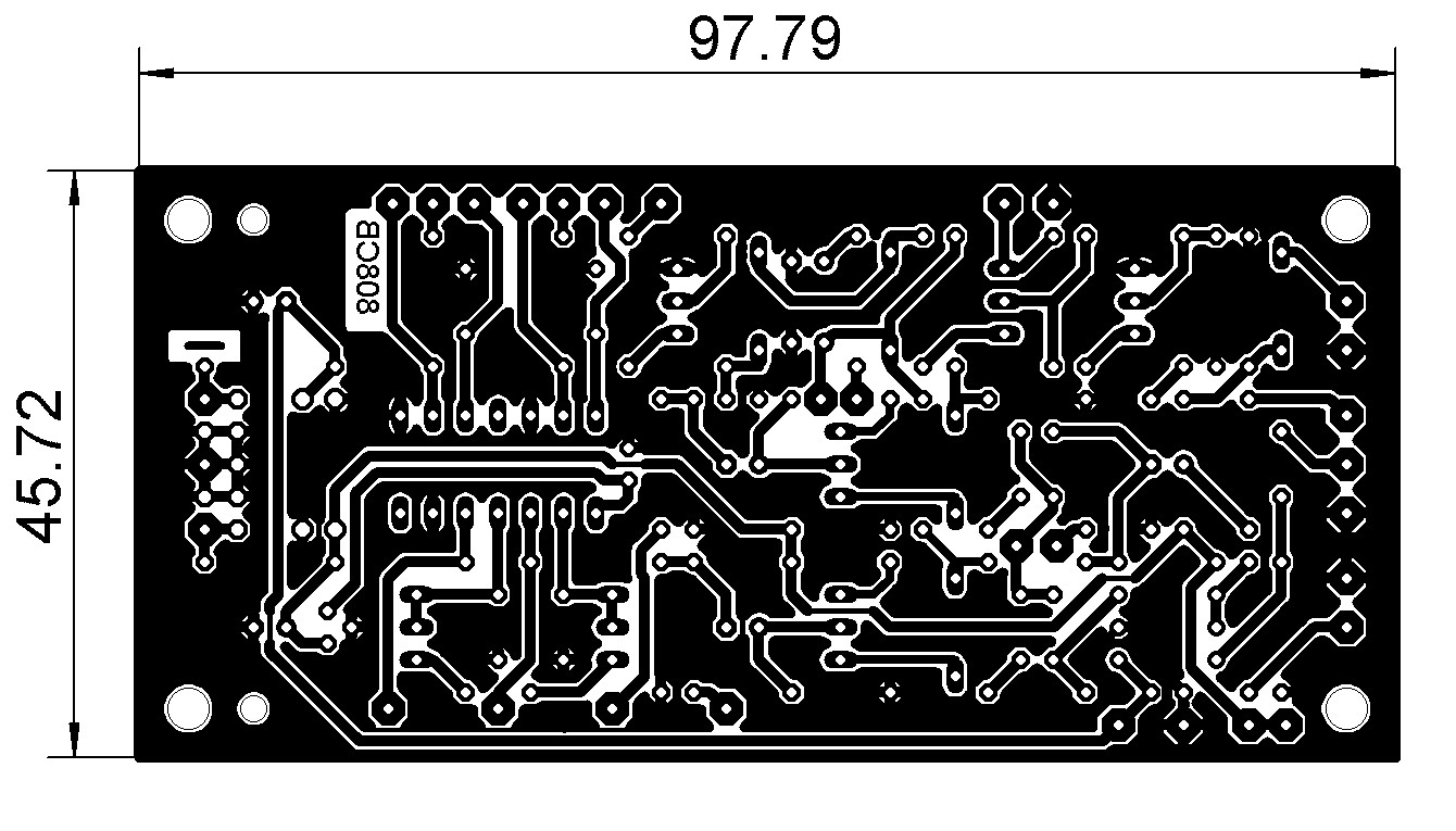 CB808 PCB with dimentions