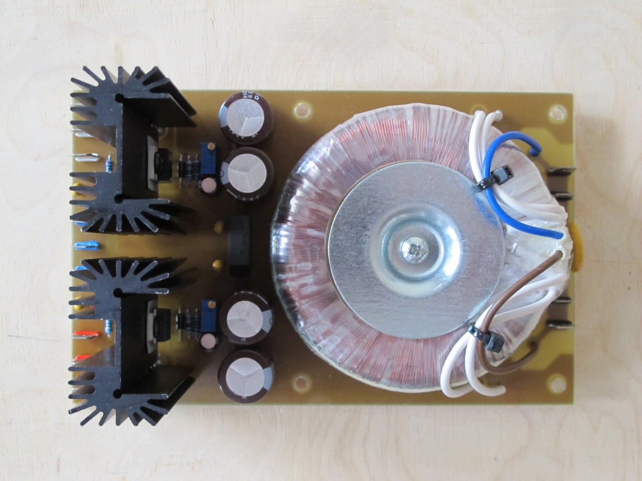 Modular synth PSU top view