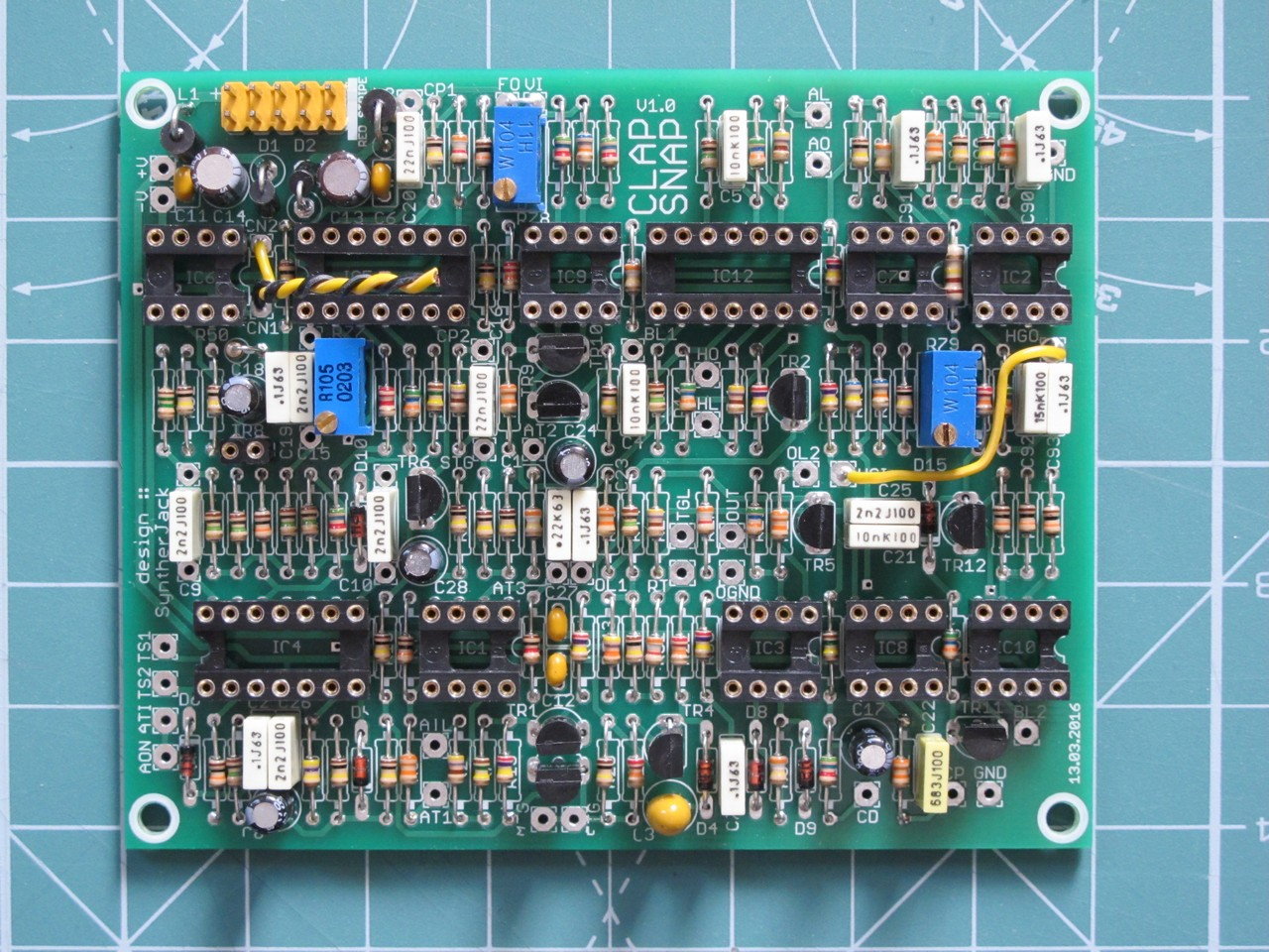 ClapSnap PCB soldered