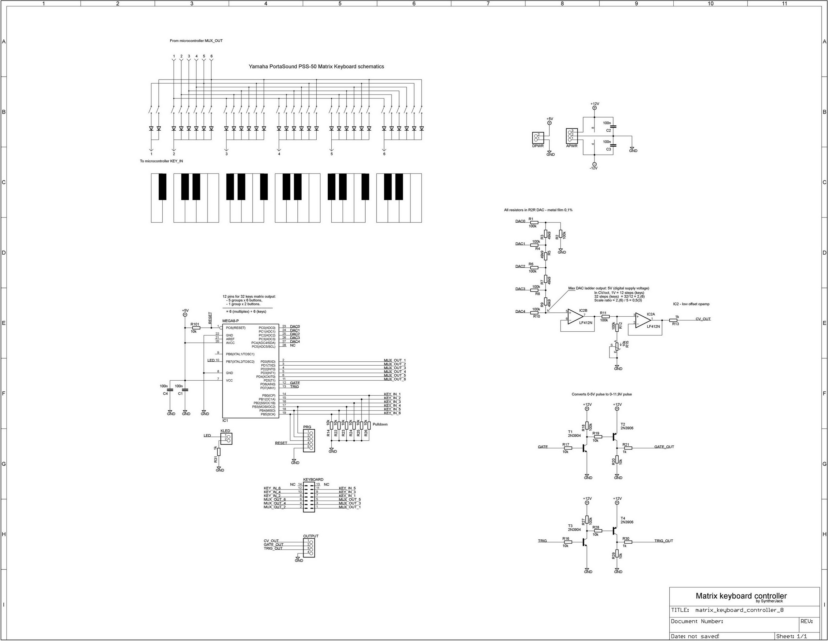 Keyboard controller schematics
