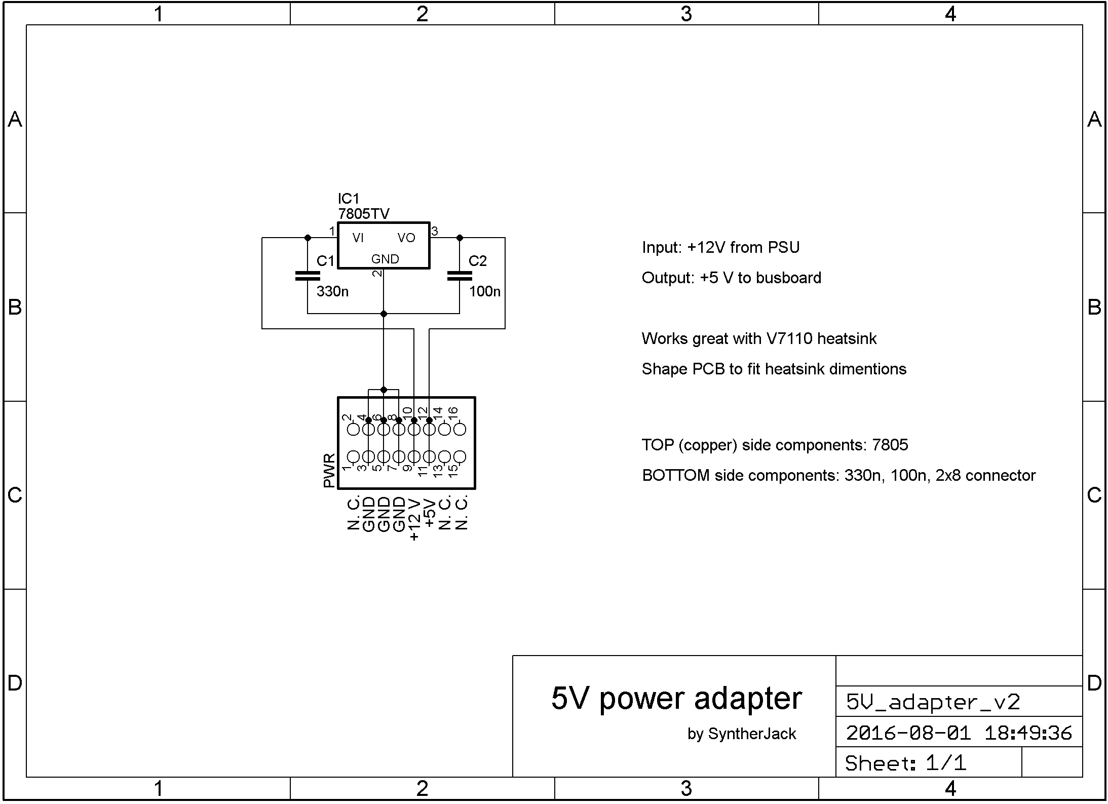 5 V adapter schematics