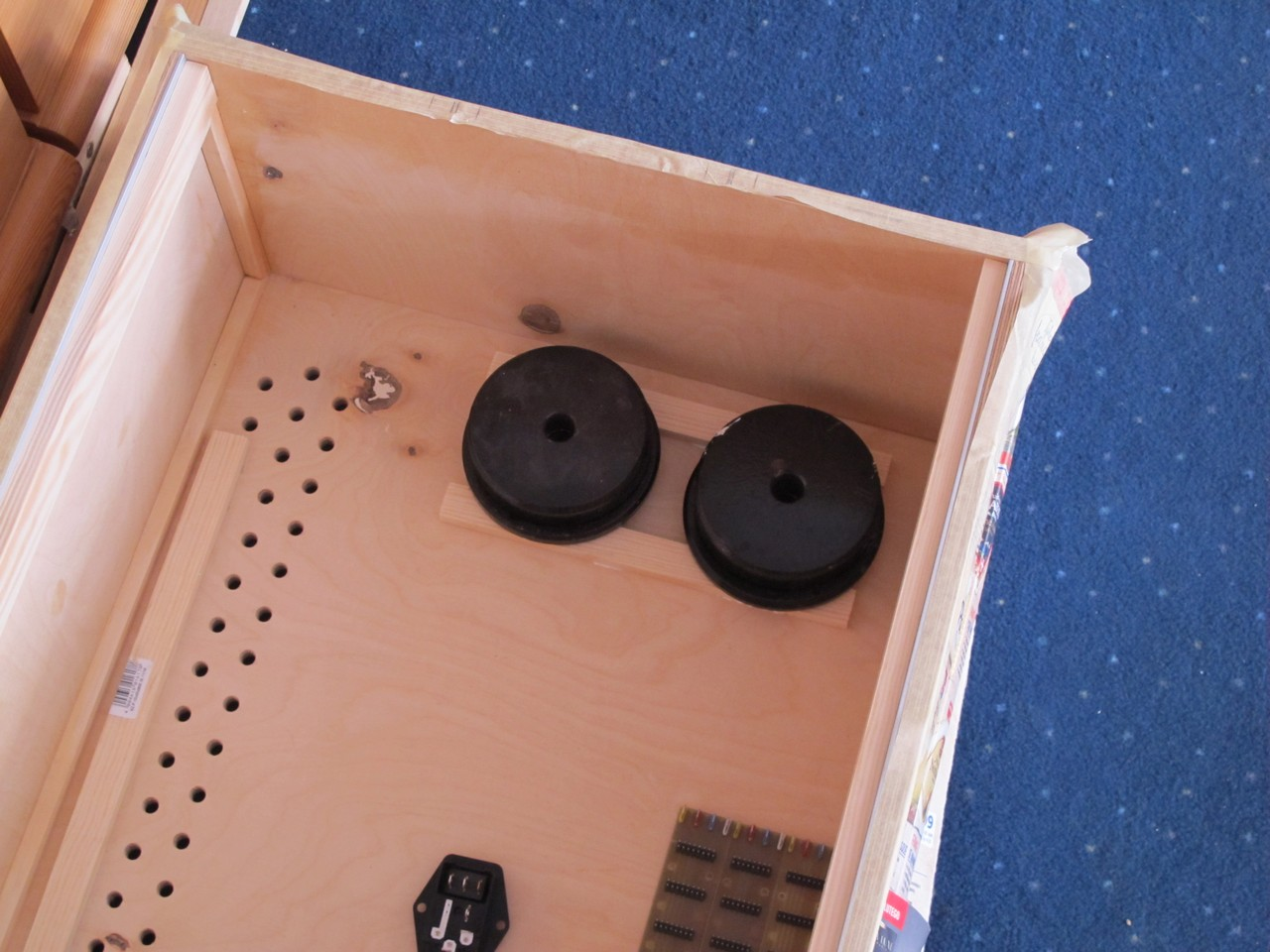 Wooden spacers for PSU
