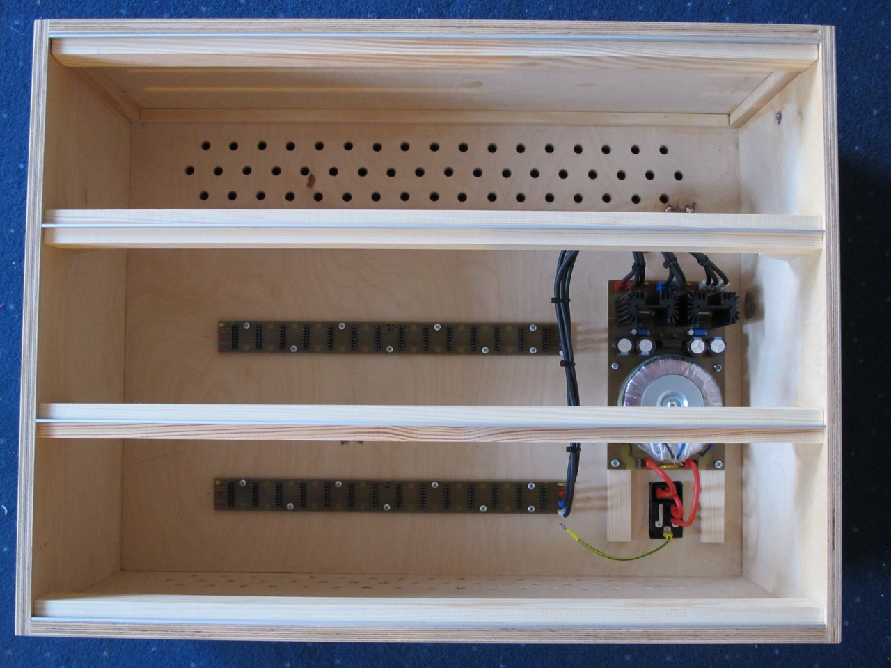 Finished modular synth case