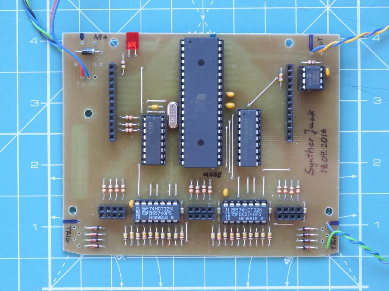 "Manutronix soldered ""brain"" PCB"