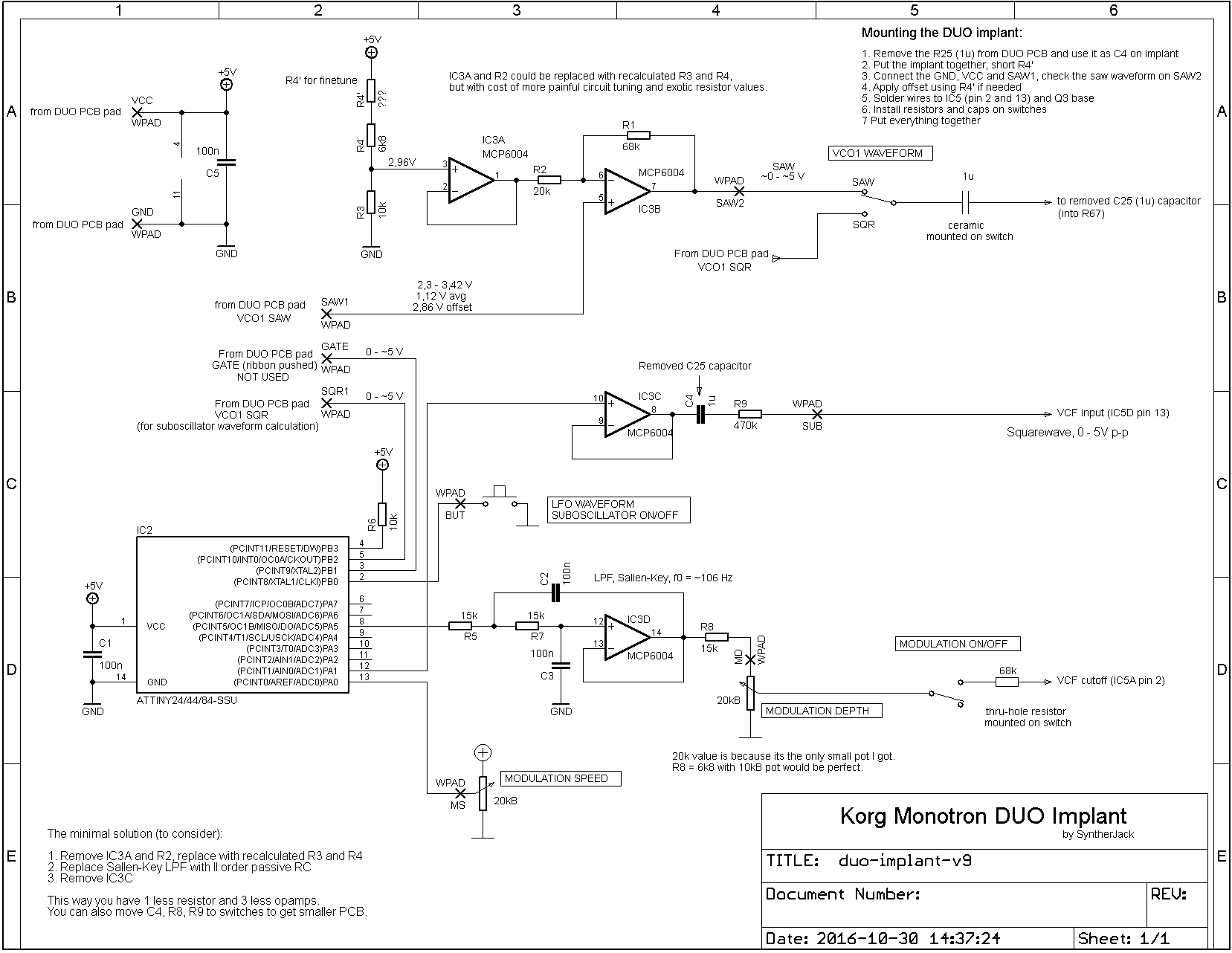 Monotron Duo Implant schematics