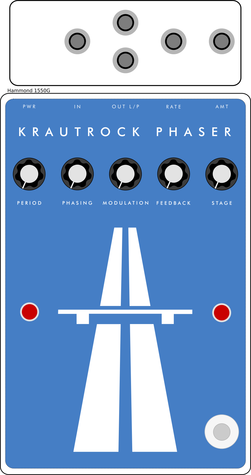 Krautrock Phaser front panel design attempt