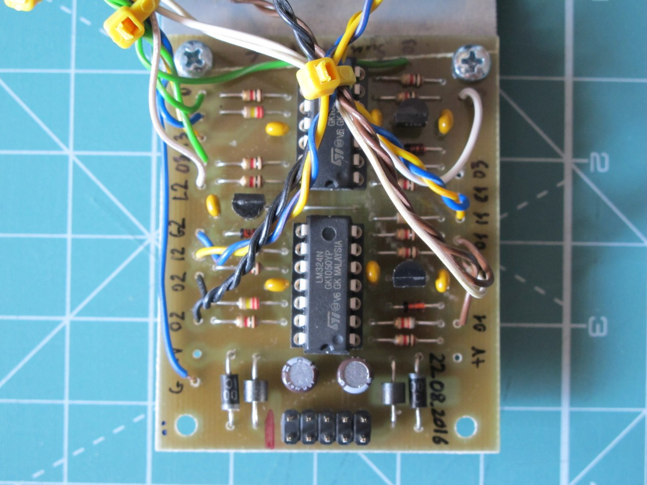 Active (buffered) multiple PCB with all parts soldered