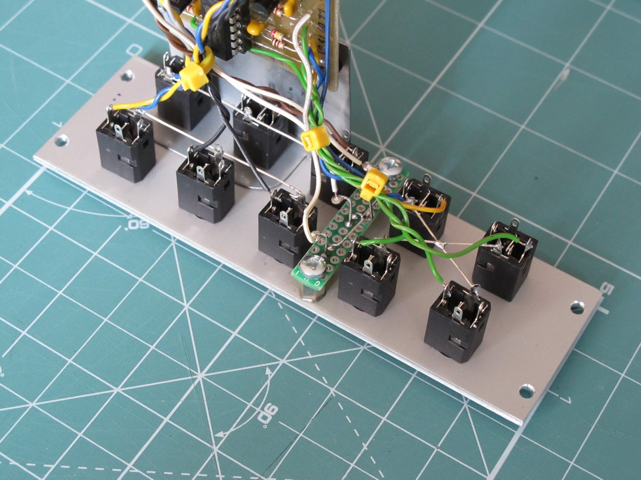 Side view of the eurorack multiple module