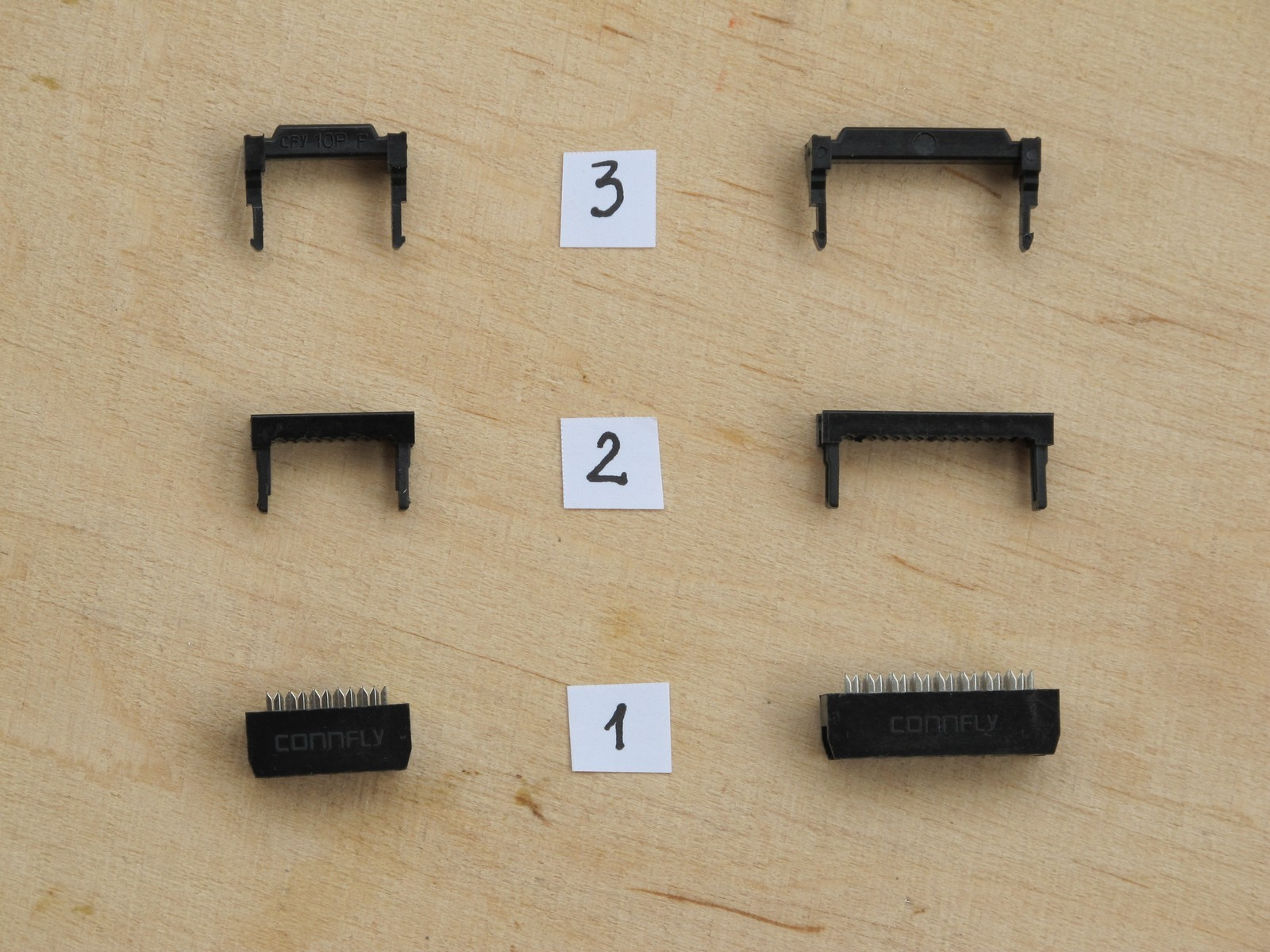 IDC plugs disassembled