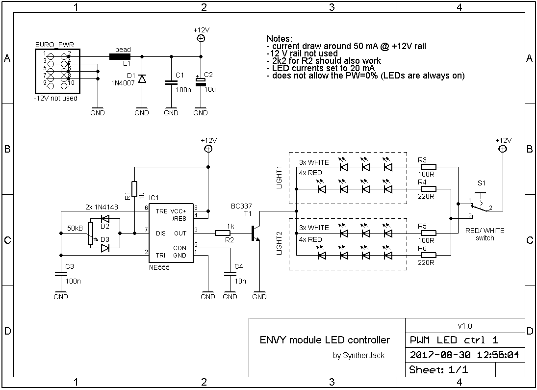 PWM LED controller schematic