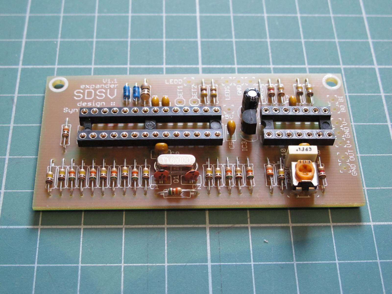Populated SDSV expander PCB