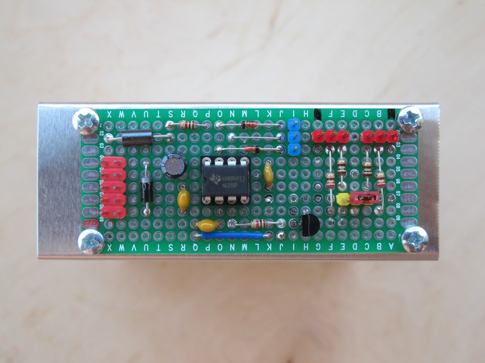 PWM LED controller soldered on universal board