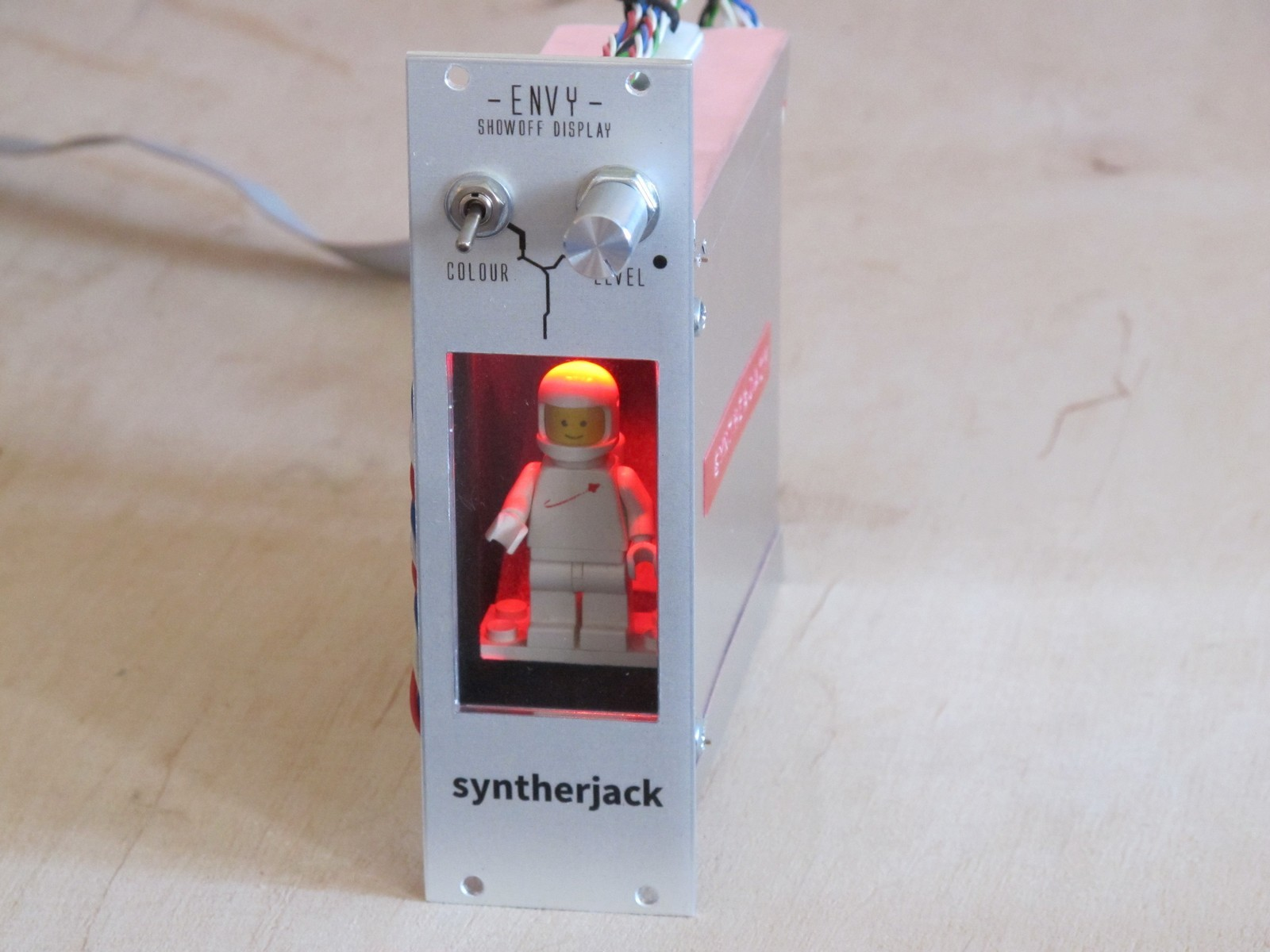 Finished ENVY LEGO eurorack module, front view