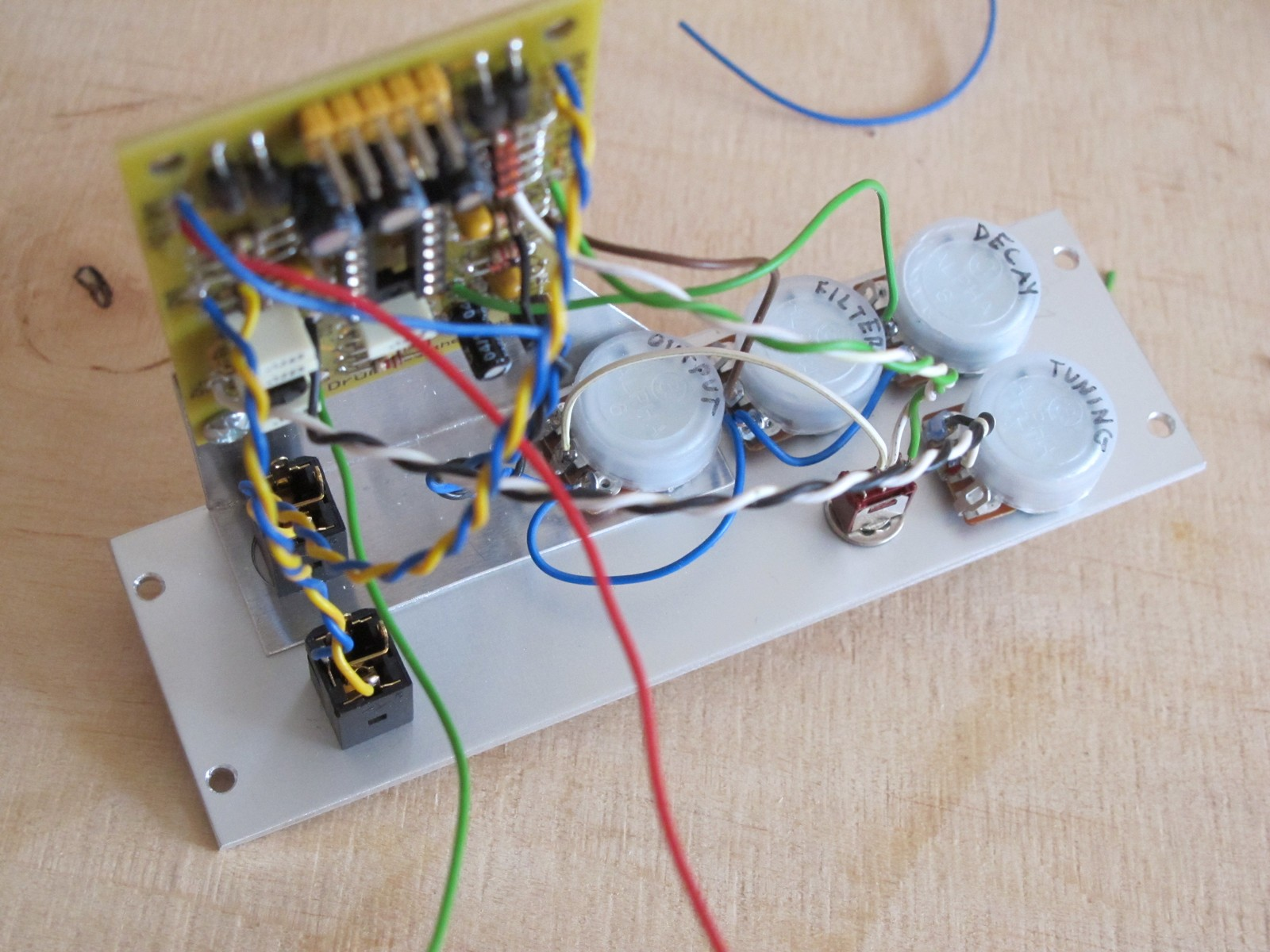 Eurorack Module Diy Tutorial 4 Wiring Syntherjack Potentiometer To Led 90 Complete And Counting