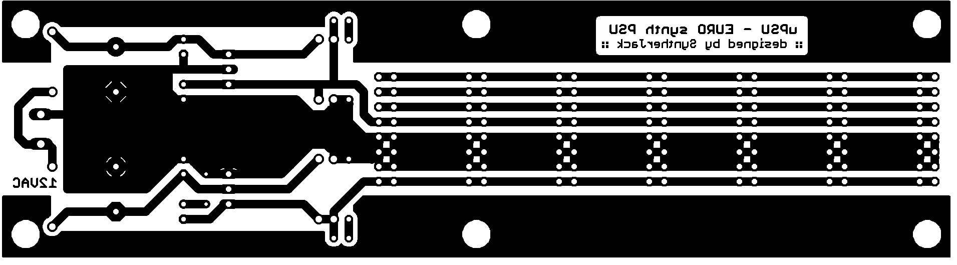 Mini PSU PCB BOTTOM layer