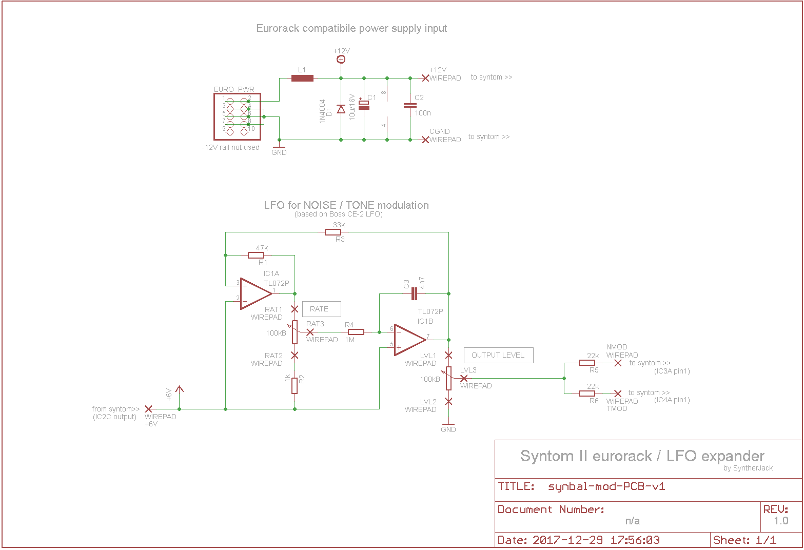 Synthom II LFO expander schematic