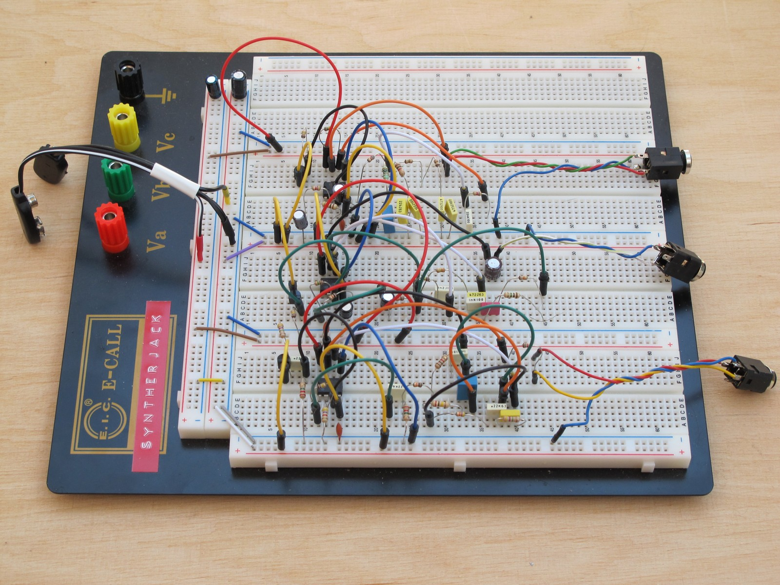 Breadboarded pink noise generators