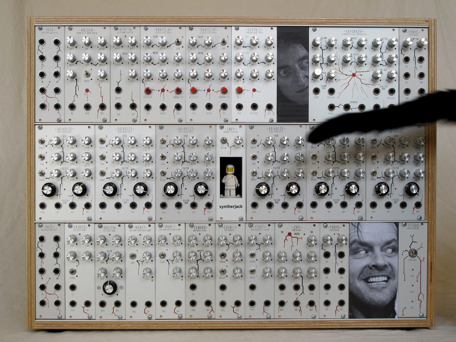 Modular synth photo with DIY eurorack blanks