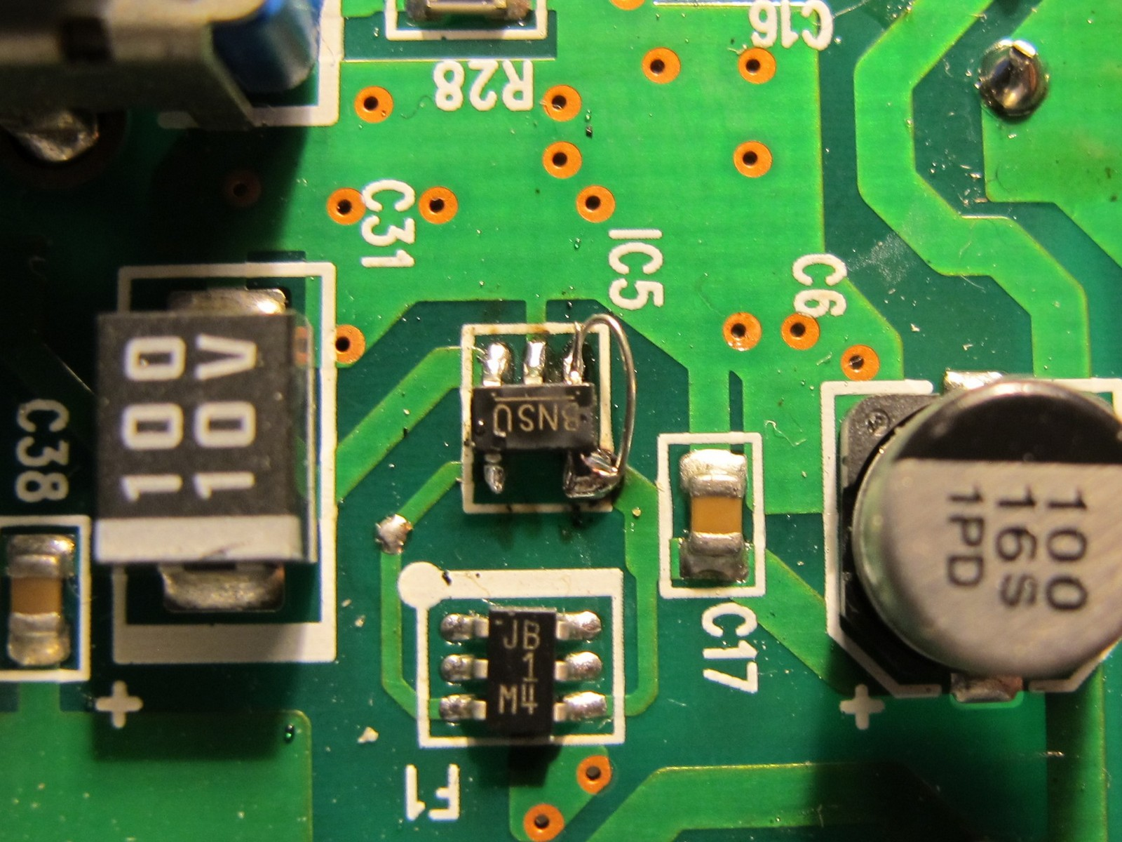 Soldered IC