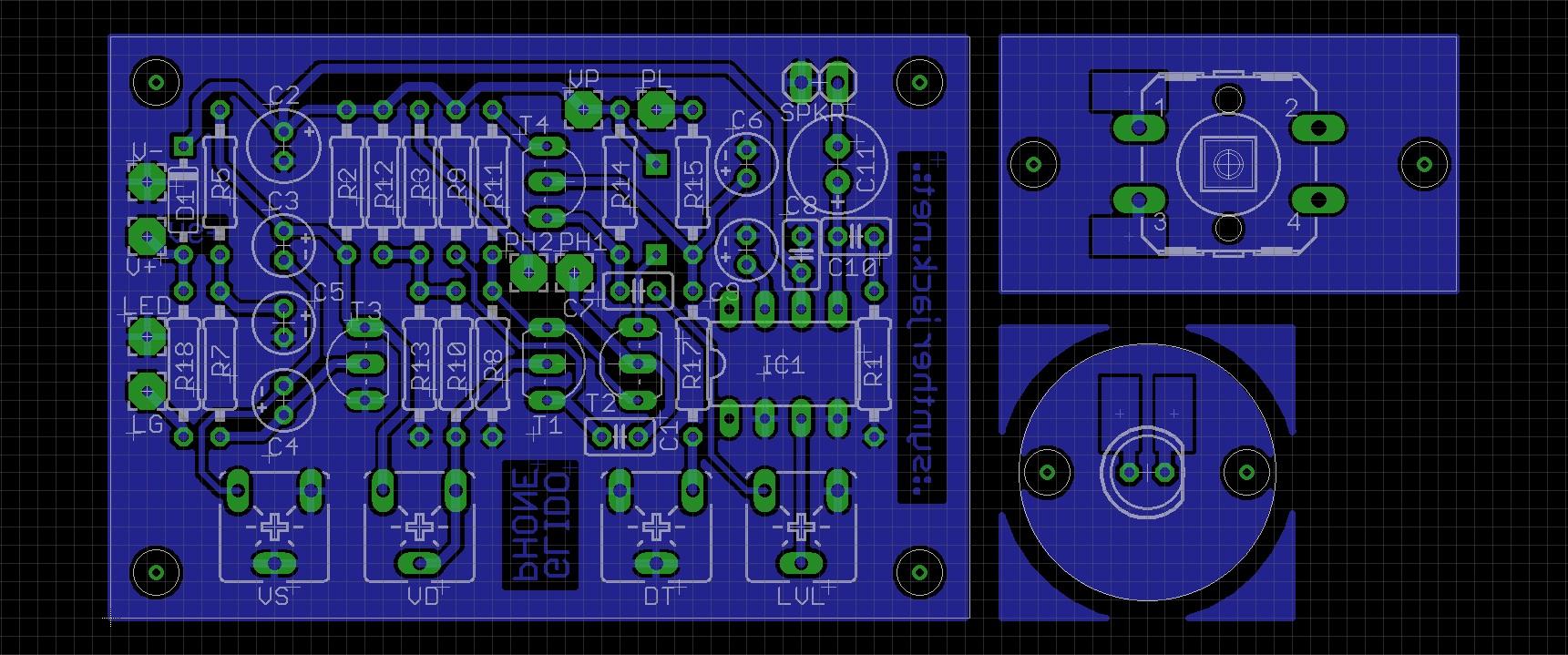 Glidophone PCB design