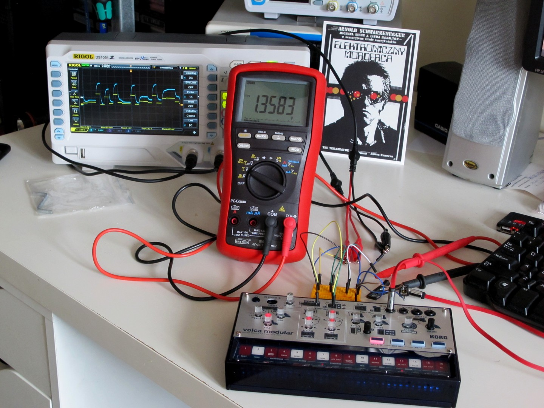 Korg Volca Modular measurement station