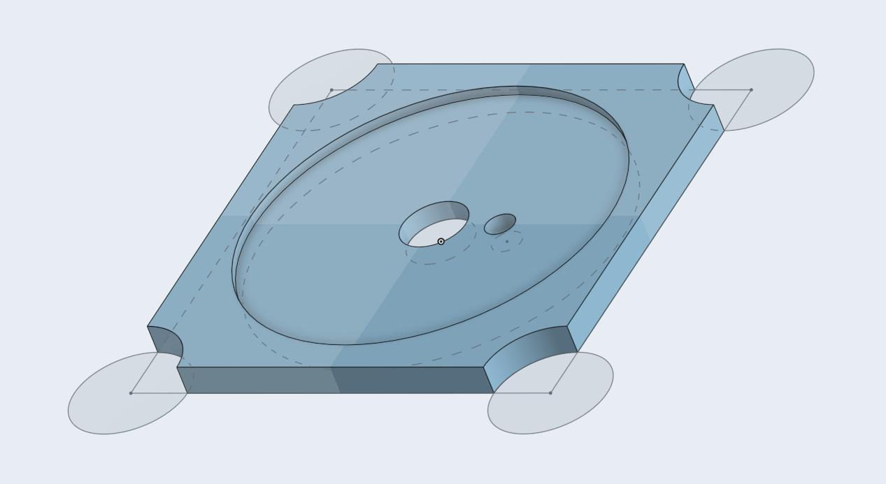 3D design of potentiometer holder
