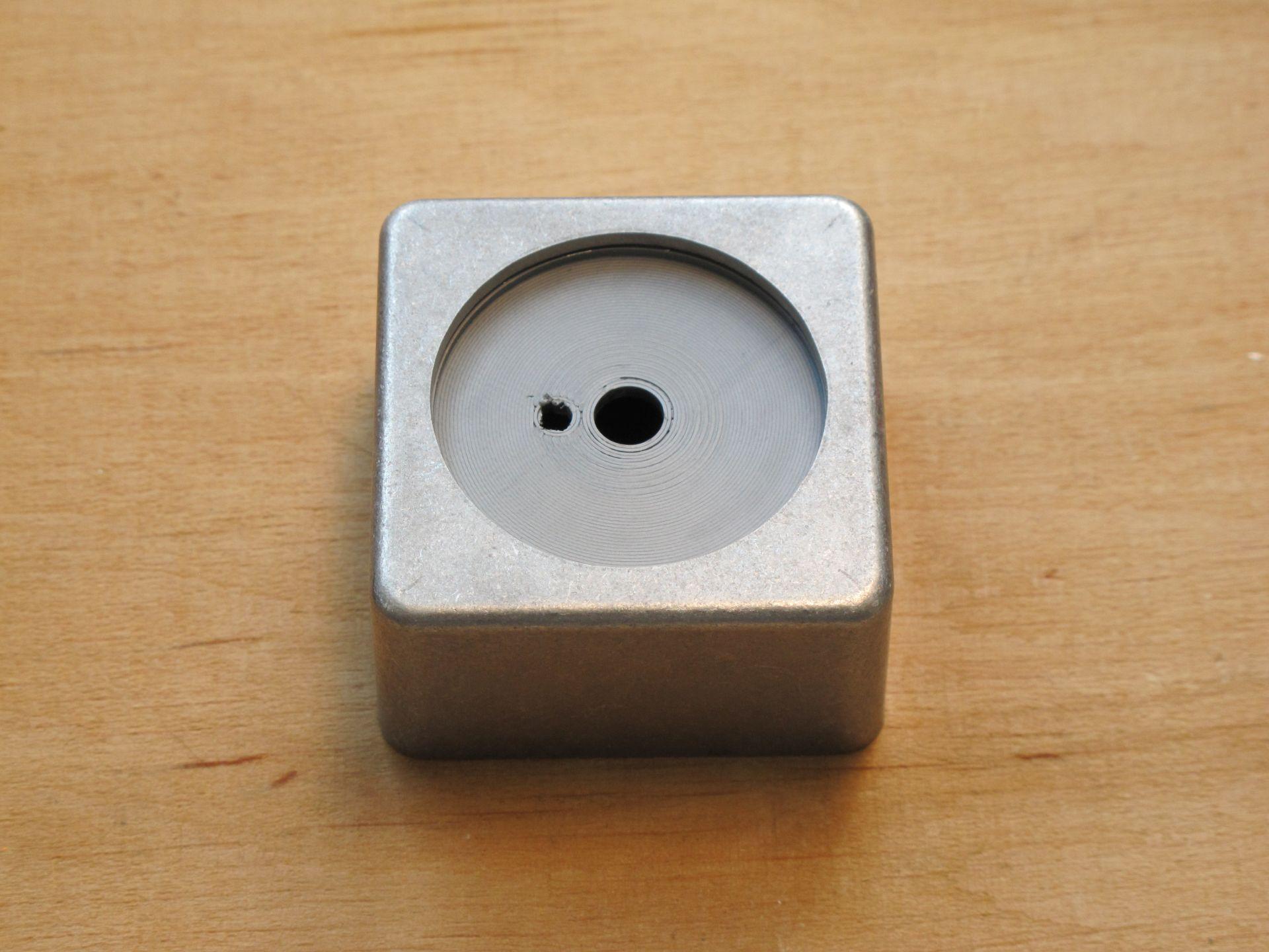 Case with glued potentiometer holder