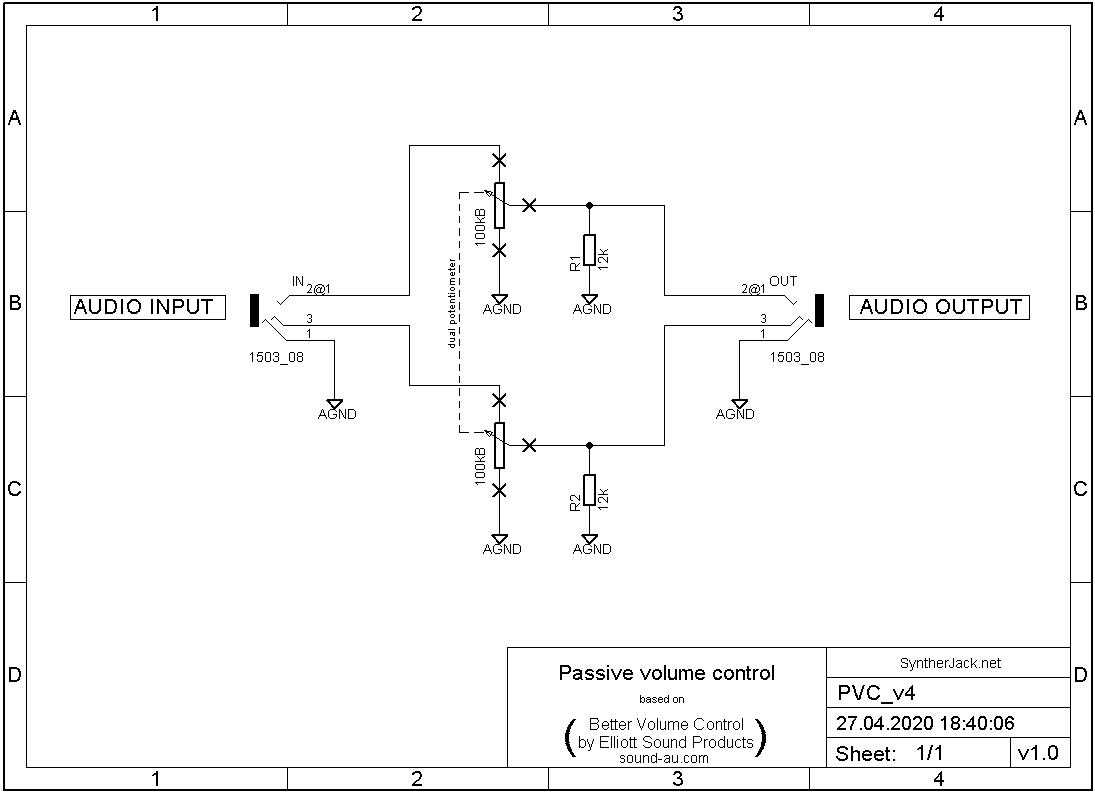 Passive Volume Control schematic