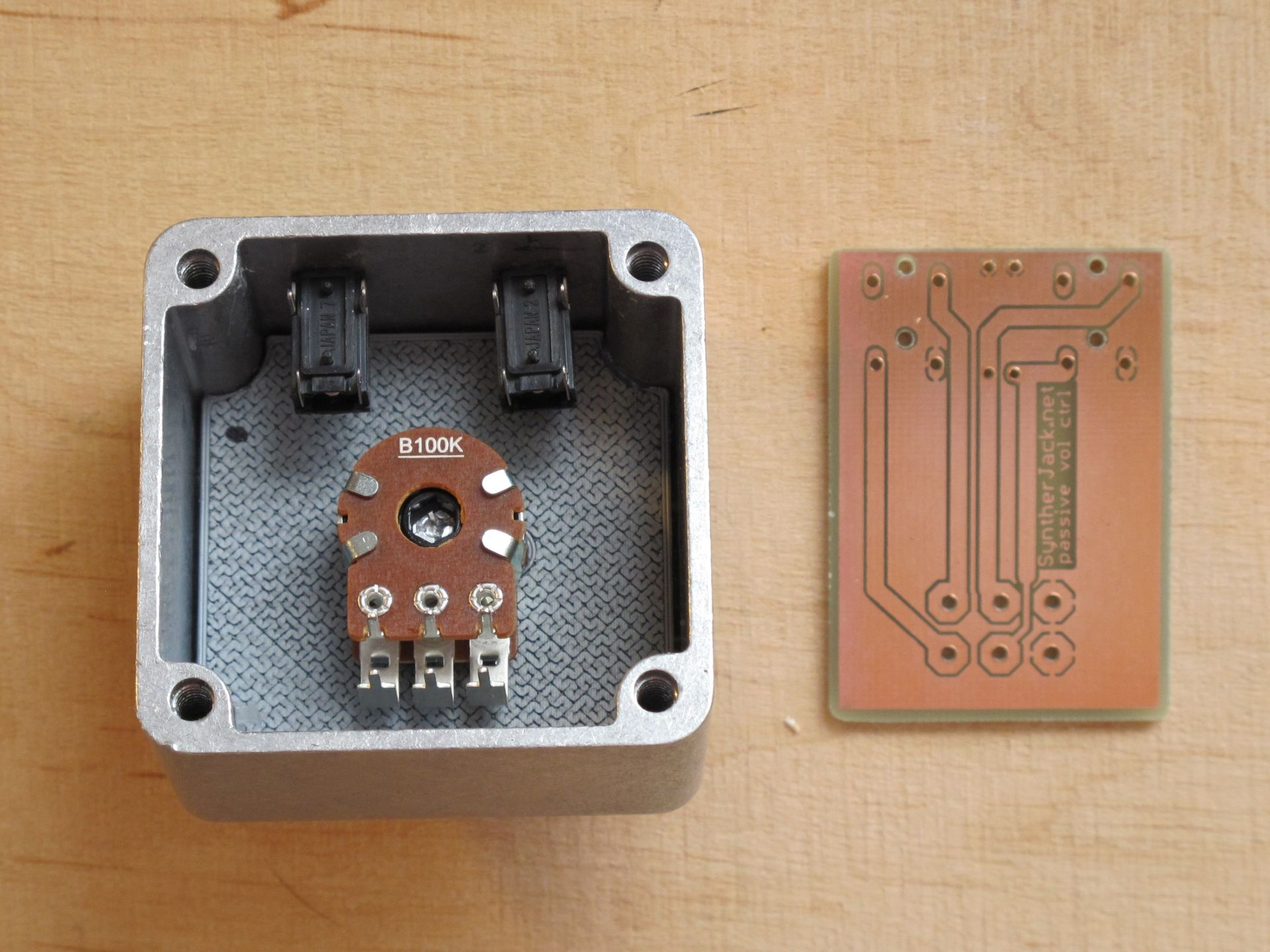 Case and etched PCB