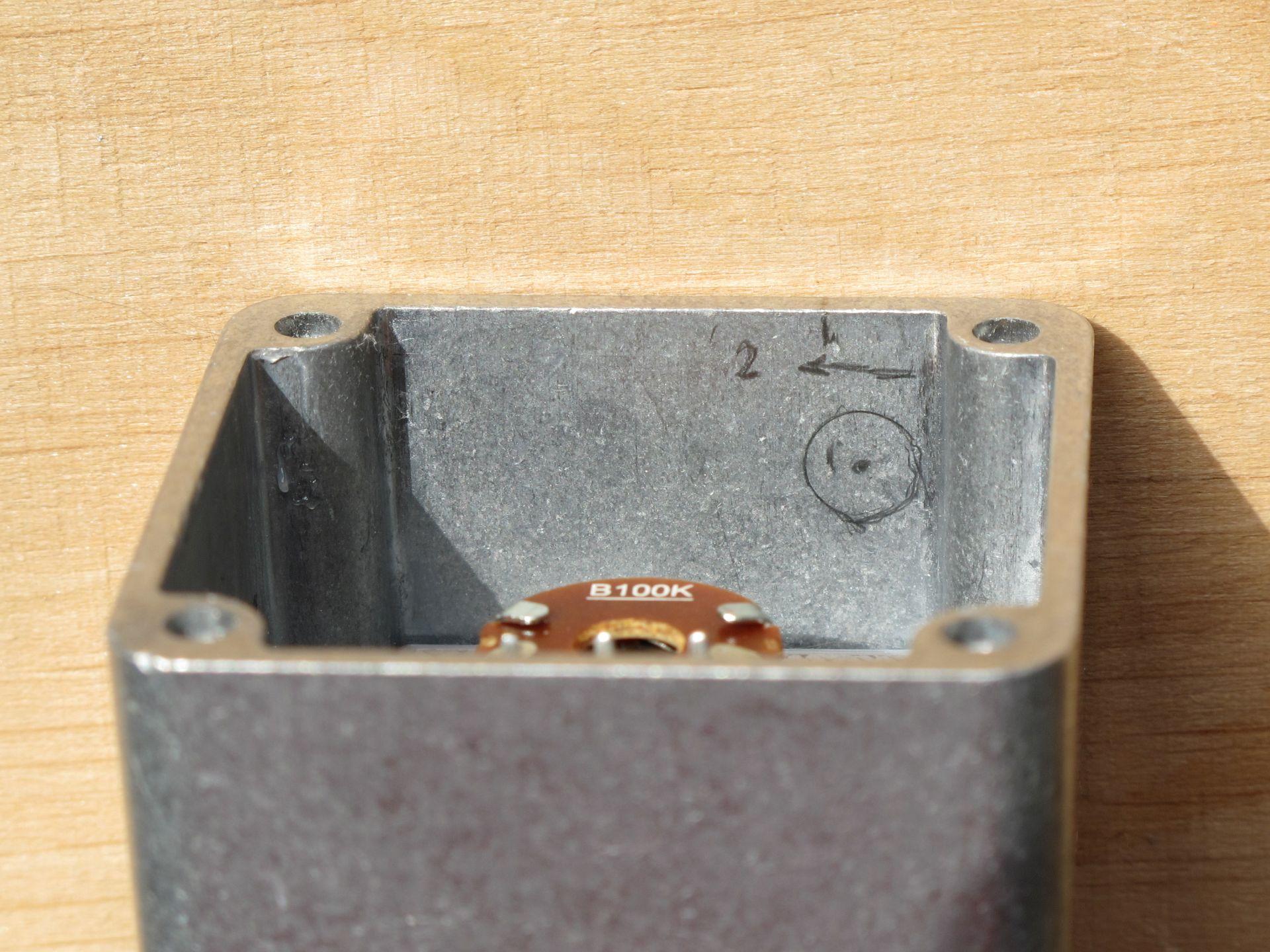 Markings on aluminum case