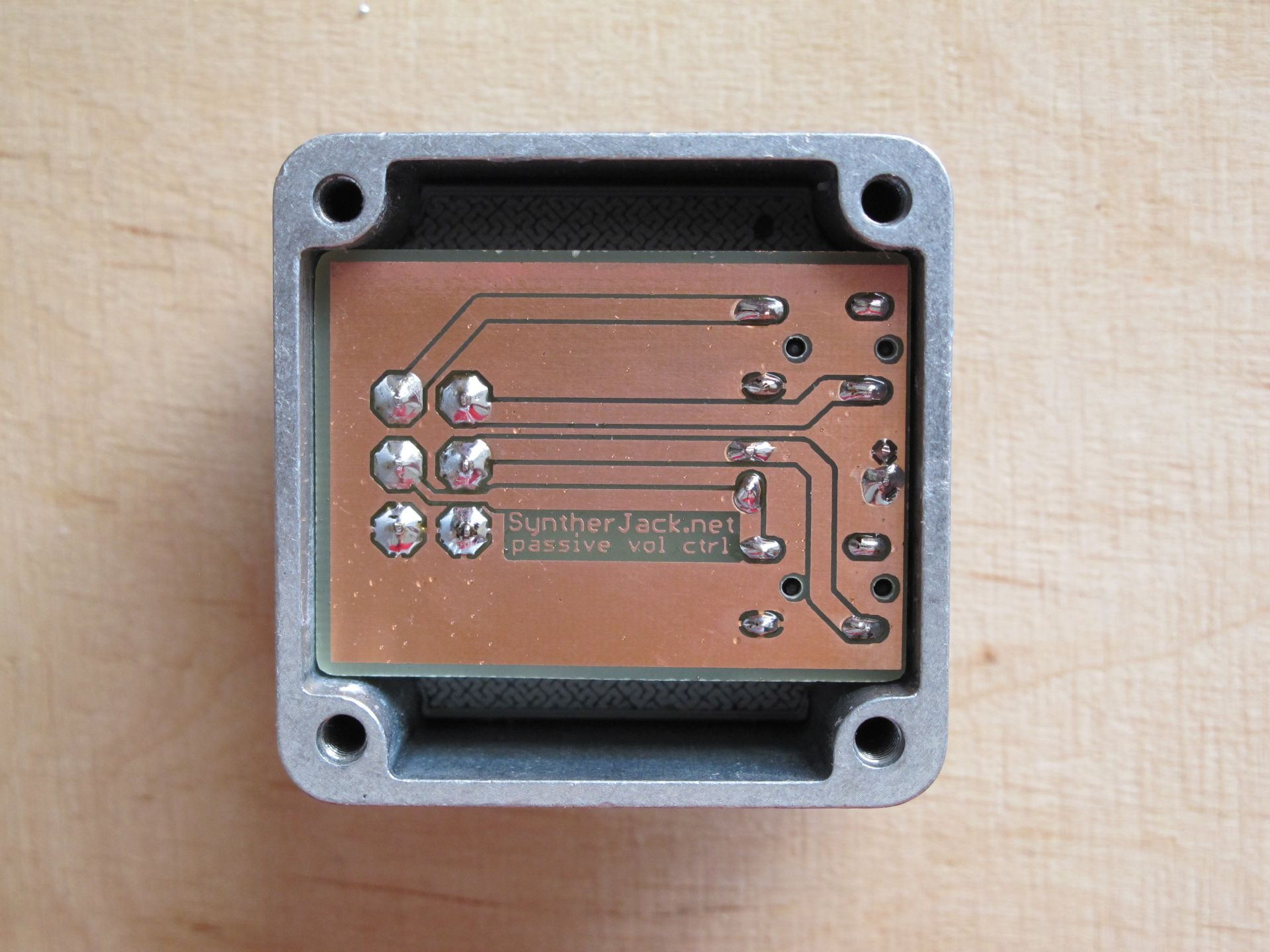 Case withh soldered PCB