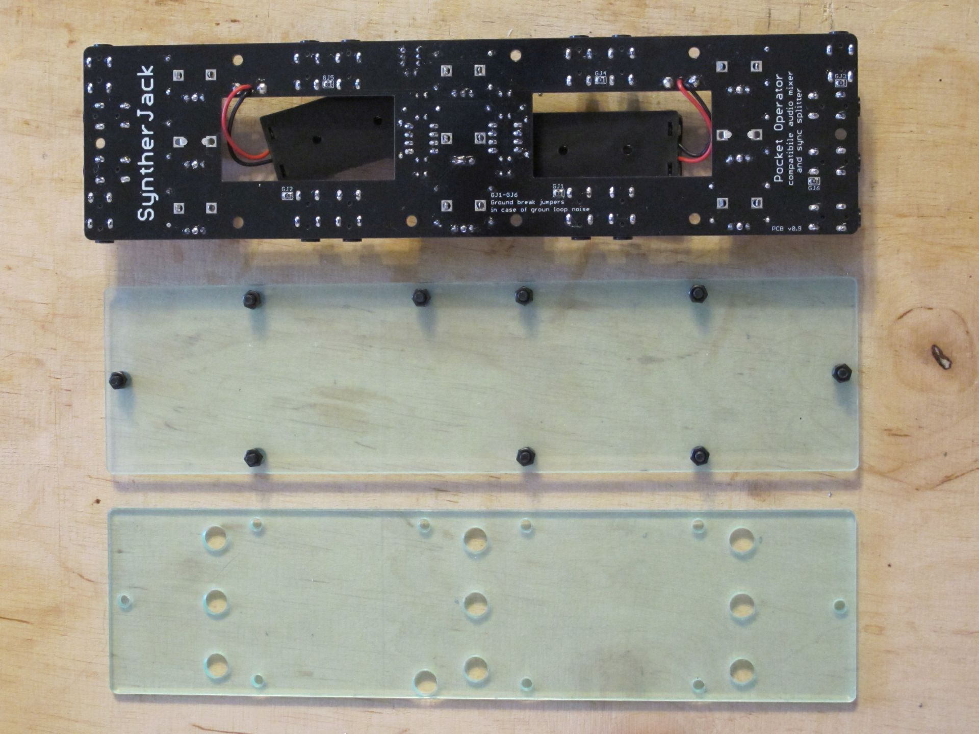 PCB with plexi panels