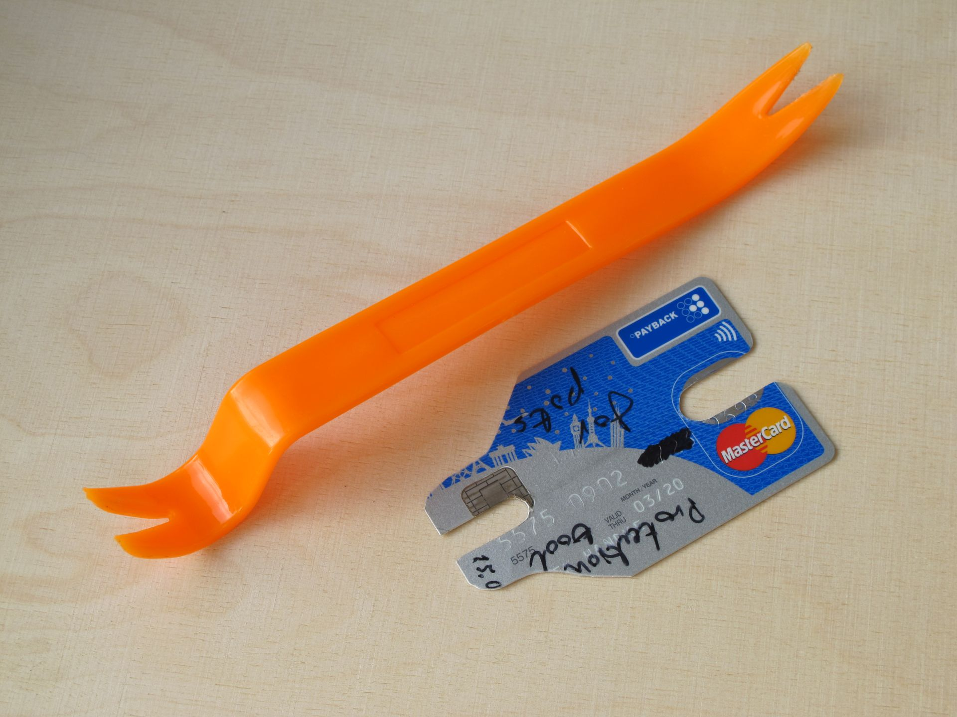 Photo of plastic crowbar