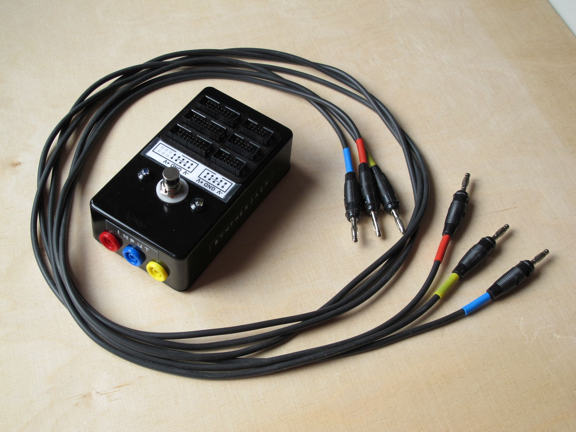 Photo of PSU extender with wires
